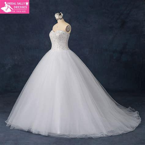 aliexpress wedding dress luxury custom made sweetheart strapless beading shining