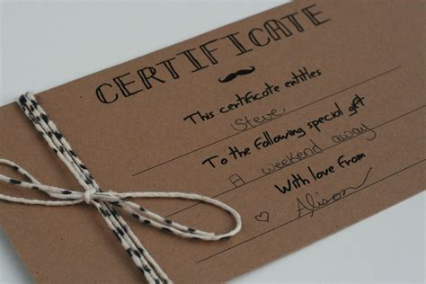 Handmade Gift Certificates - the petit cadeau printable gift certificates for