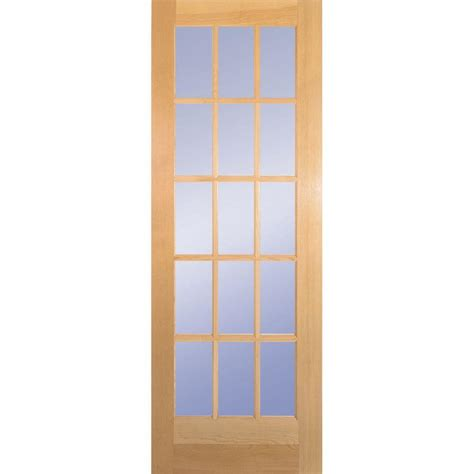 Builder S Choice 28 In X 80 In 28 In Clear Pine 15 Lite Light Interior Door