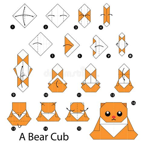 Exles Of Origami With Steps - 233 par 233 comment faire l ours de l