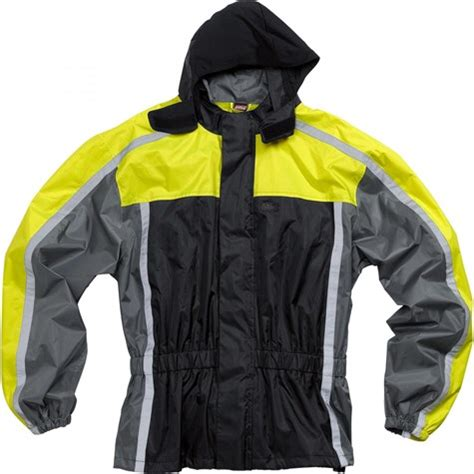 road textile rain jacket  yellow