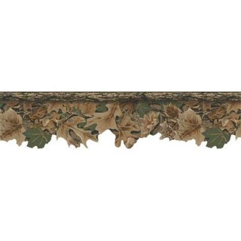 home depot real tree york wallcoverings 6 75 in realtree camouflage border wd4130b the home depot