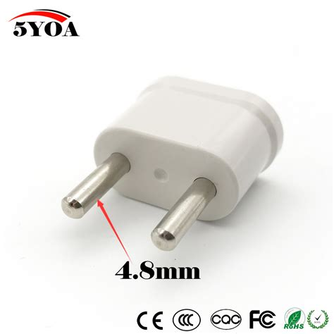 european l shade adapter us usa to eu euro europe travel power plug adapter charger