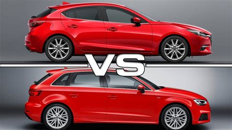 Audi A3 Vs A3 Sportback by 2017 Mazda 3 Hatchback Vs 2017 Audi A3 Sportback