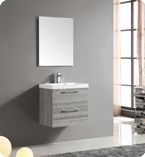 25 X 22 Vanity Top Fresca Fvn8506ma 24 Quot Wall Mount Matte Modern Bathroom