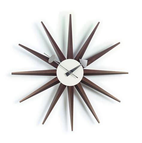 Funky Chaise Lounge Sunburst Clock Walnut Nova68 Com