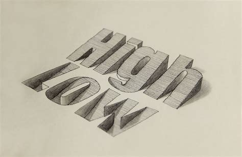 typography tutorial pencil hand drawn 3d typography by lex wilson scene360