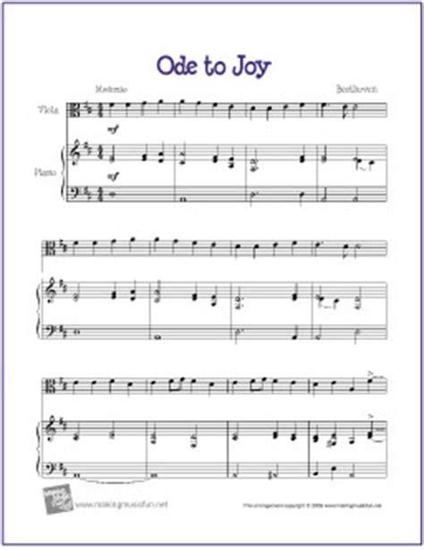 free printable sheet music viola ode to joy beethoven free beginner viola sheet music