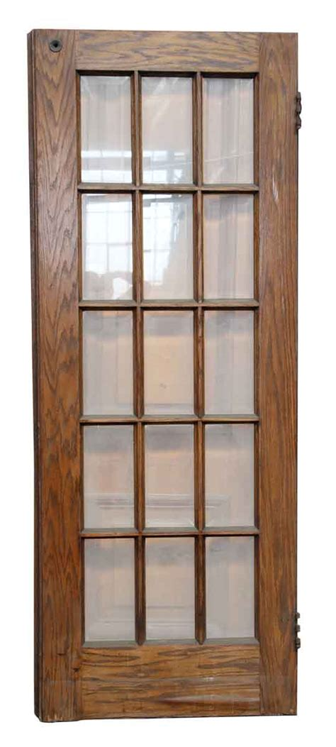 15 Glass Panel Interior Doors 15 Glass Panel Door 15 Beveled Glass Panel Wood Door Olde Things Pair Doors With 15 Glass