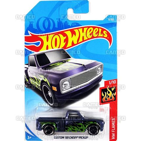Wheels Custom 69 Chevy Purple Flames 2018 11 365 camco toys diecast distributor for the wheels