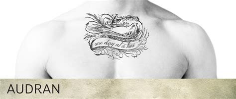 one day at a time tattoo second marketplace audran unisex collarbone