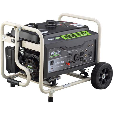 pulsar pg4500b 4500w gas 4100w lp dual fuel portable