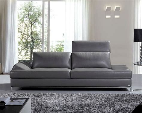 contemporary leather sofas italian modern italian leather sofa 44l5967