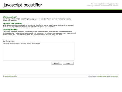 javascript layout tools javascript beautifier best web design tools