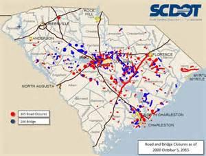 road closures map sc road closure map www wsoctv