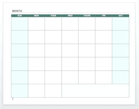 2017 Pto Calendar Template
