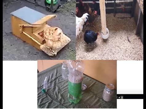 Tempat Makan Burung Ternak memanfaatkan kaleng bekas untuk tempat makan burung doovi