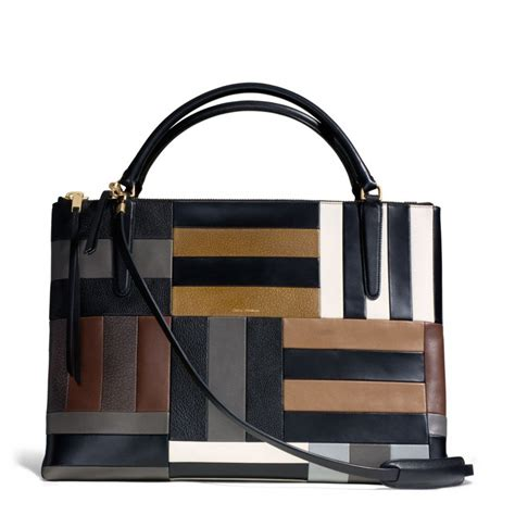 Coach Patchwork Bag - coach the large borough bag in patchwork leather in black