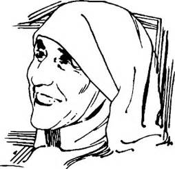 potrait mother teresa coloring pages sketch template