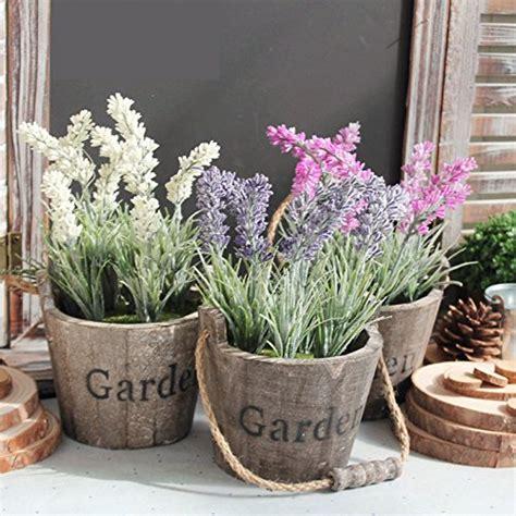 vasi di lavanda lifeup set vaso legno fiori artificiali lavanda botte