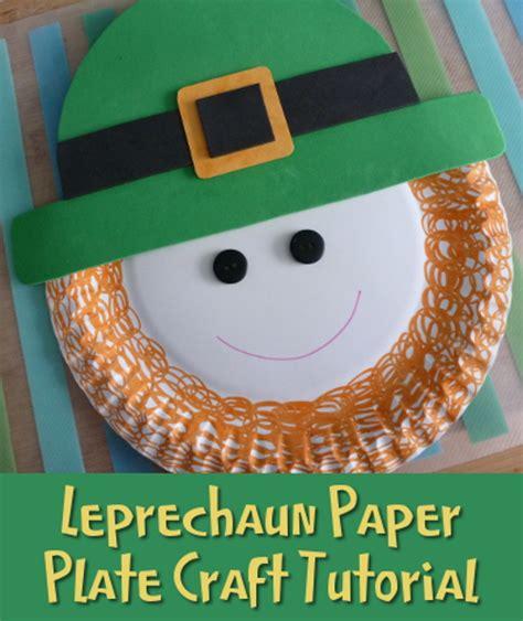 Leprechaun Paper Craft - leprechaun paper plate craft activity