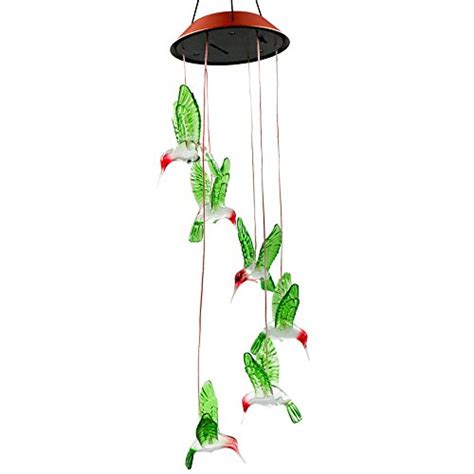solar powered wind chime light color changing led solar mobile wind chime bukm solar
