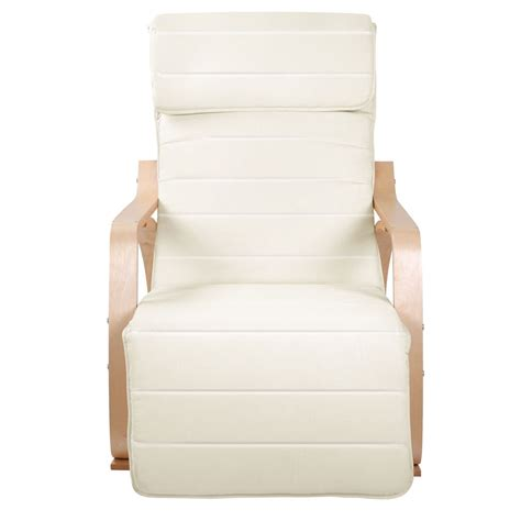 beige armchair 114 40 birch plywood adjustable rocking lounge arm chair