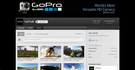 youtube kanal layout gopro youtube kanal webdesign und typo3 blog aus