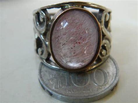 Cincin Kecubung Rambut Merah dinomarket pasardino cincin akik kecubung merah rambut