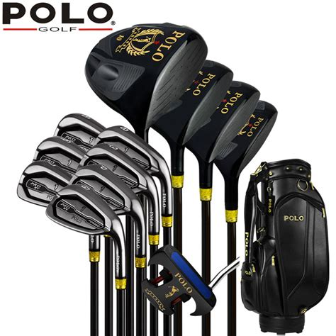 best authentic polo golf cue kit golf titanium wood driver stainless steel 12clubs set complete