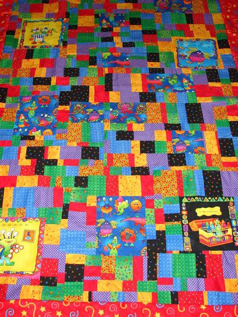 Bisquit Quilt by Biscuit Quilt Crumb Cake Quilt With Monsters