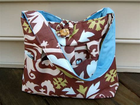 Layla Bag Brown the layla bag brown and blue by charmingwhimsy on