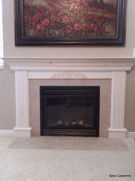 Gas Fireplace Mantle by Fireplace Mantel Apex Carpentry