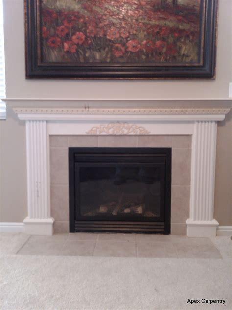 fireplace mantel Apex Carpentry
