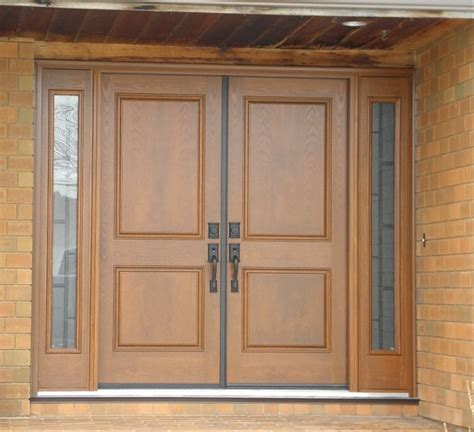 Front Door With Two Sidelights Entry Door With Sidelights And Quattro Glass Doors With Sidelights