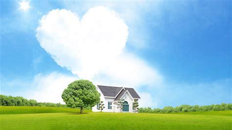 shaped cloud a house 334430 walldevil