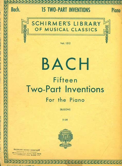 the home library vol 5 classic reprint books bach fifteen two part inventions for the piano 2nd