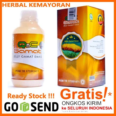 obat herbal qnc jelly gamat asli 100 original teripang