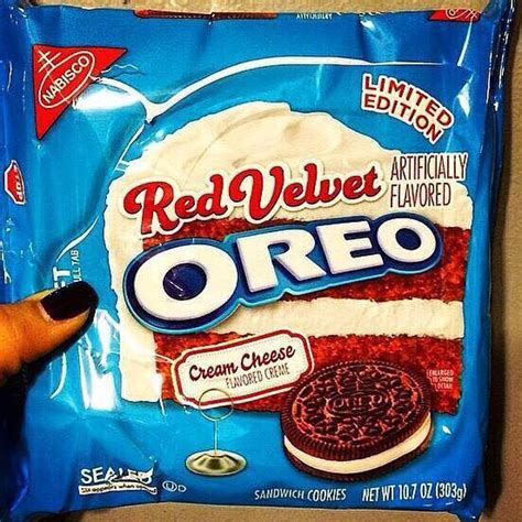 is the newest oreo flavor fried chicken first we feast i want red velvet oreos to be real so bad and they are