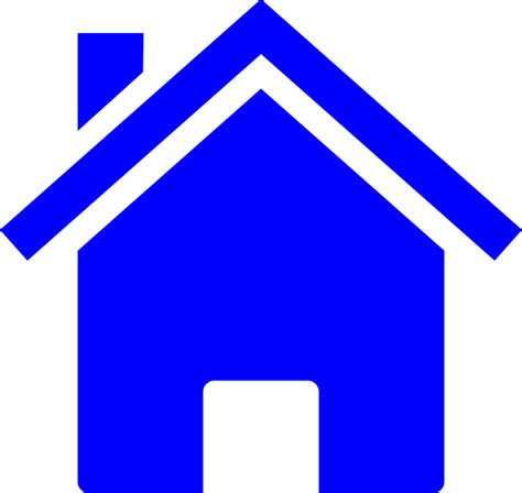 blue houses simple blue house clip art at clker com vector clip art online royalty free
