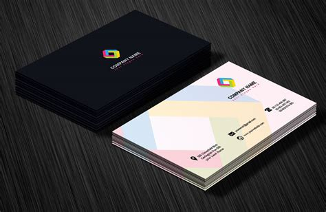 card design template professional business card design template free