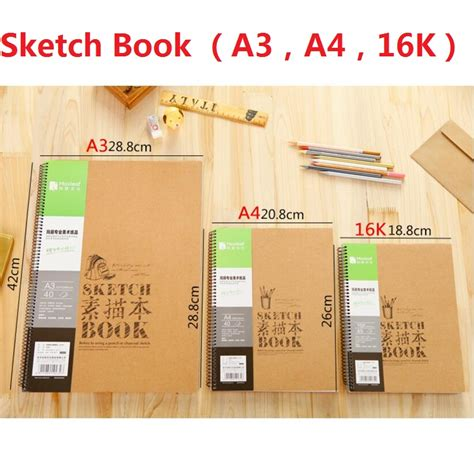sketch book a3 a3 a4 16k sketch notebook blank paper vintage sketchbook