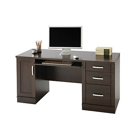 desk l for computer use sauder office port computer credenza 29 12 h x 59 12 w x