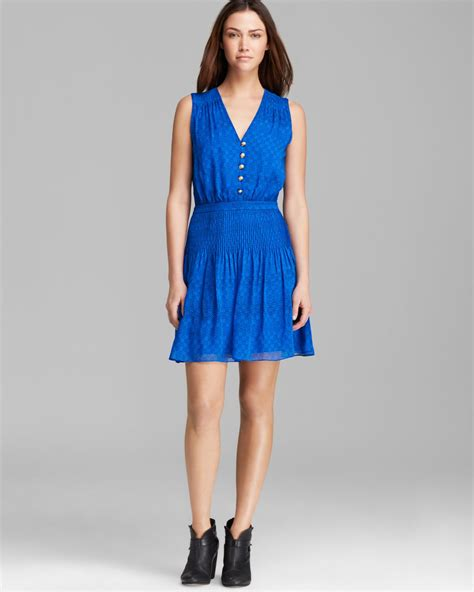 diane furstenberg dress zaeta silk in blue moroccan ditsy blue lyst