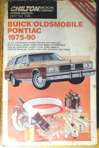 chilton car manuals free download 1986 pontiac parisienne electronic valve timing purchase 1975 1990 buick olds pontiac chilton book co repair tune up guide manual 7308