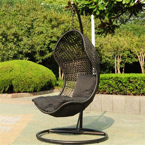 Black Hanging Chair by 10 And Stylish Wicker Hanging Chairs Ideas And Designs