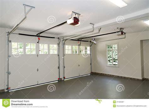Free 2 Car Garage Plans Two Car Garage Interior Stock Image Image Of Opener