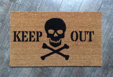 Skull And Crossbones Doormat by Keep Out Doormat Skull Welcome Mat Painted Outdoor