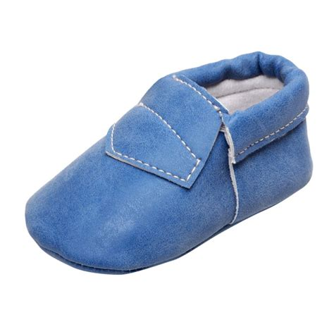 infant baby shoes pu leather slip on casual crib