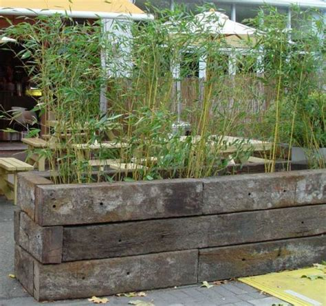 Railroad Tie Planter by How To Build A Raised Bed With Railway Sleepers Garden
